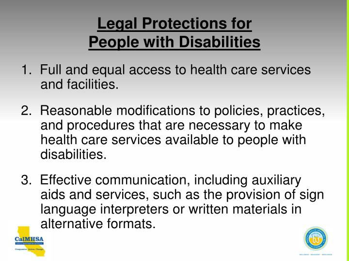 Legal Protections for