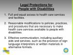 legal protections for people with disabilities