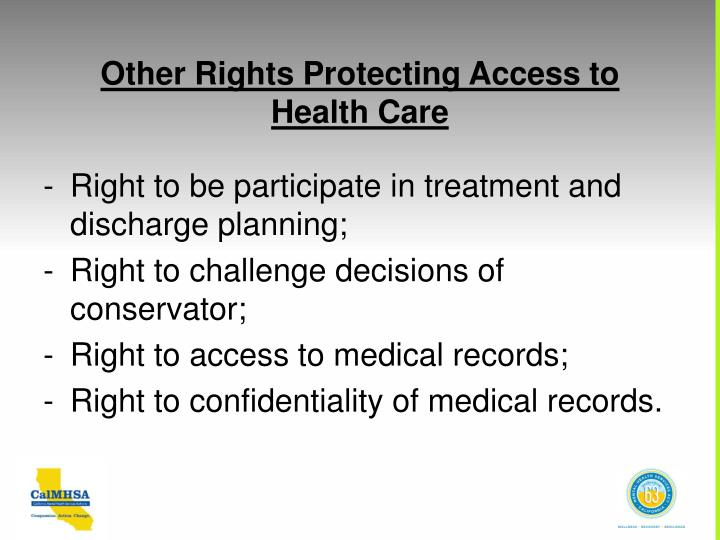 Other Rights Protecting Access to