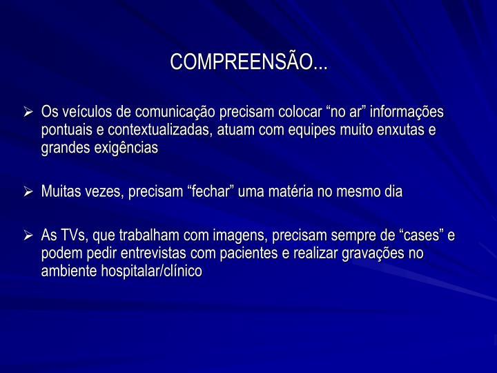 COMPREENSÃO...