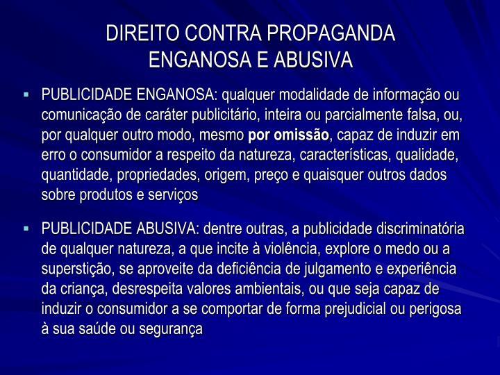 DIREITO CONTRA PROPAGANDA
