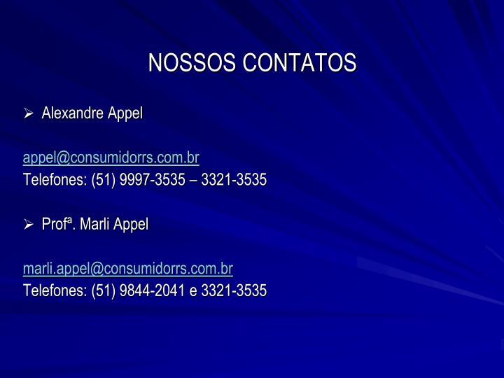 NOSSOS CONTATOS