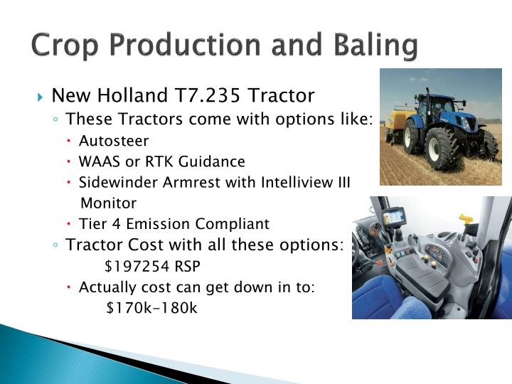 Crop Production and Baling