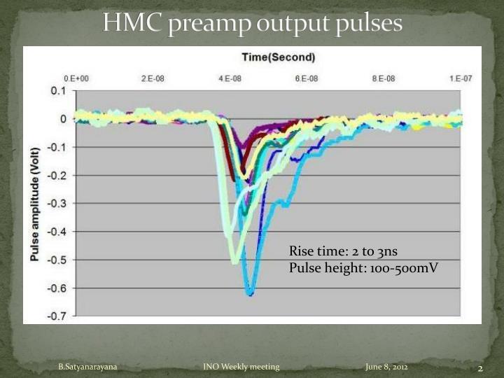 HMC preamp output pulses