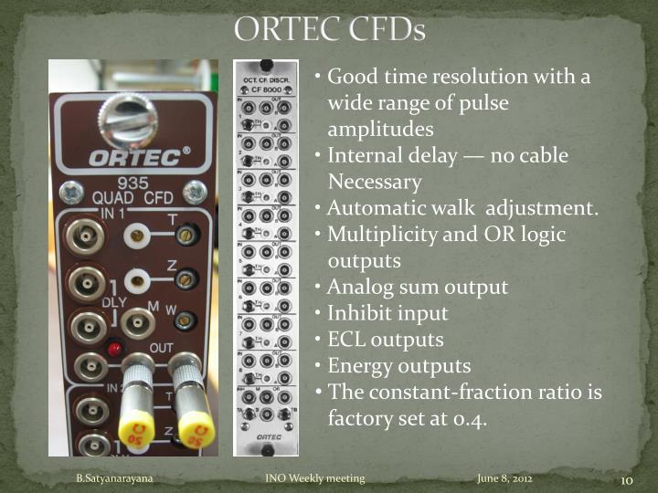 ORTEC CFDs