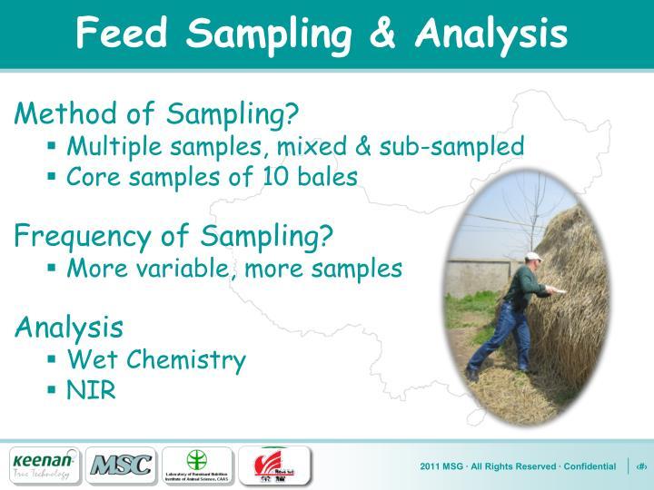 Feed Sampling & Analysis