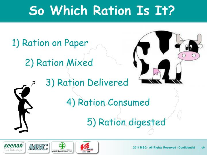 So Which Ration Is It?