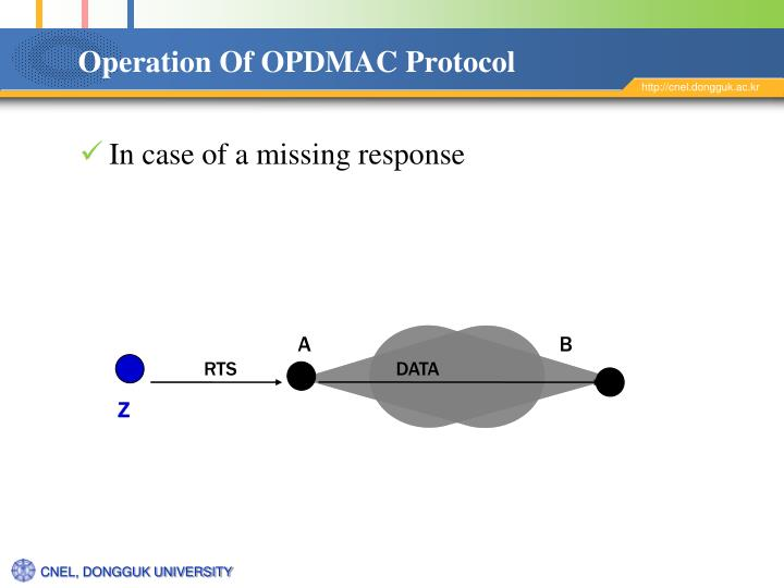 Operation Of OPDMAC Protocol