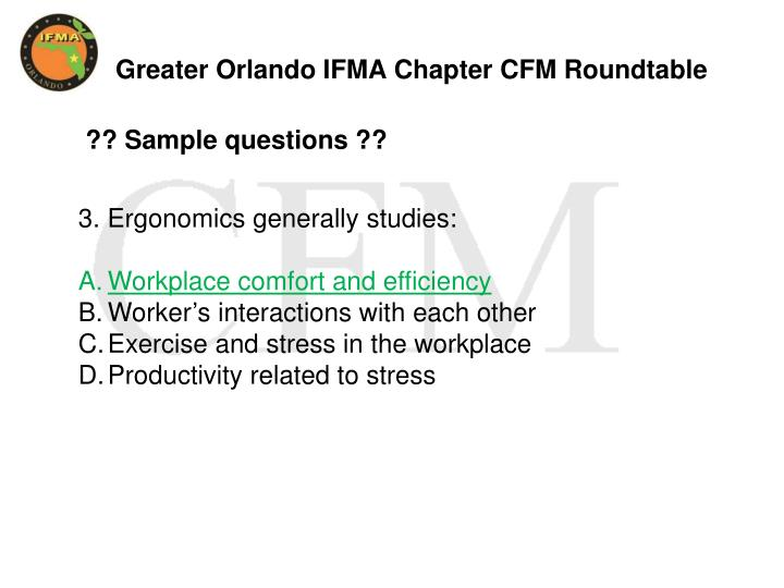 Greater Orlando IFMA Chapter CFM Roundtable