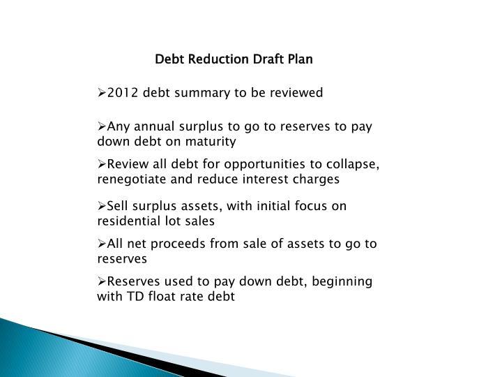 Debt Reduction Draft Plan
