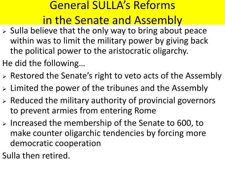 General SULLA's Reforms