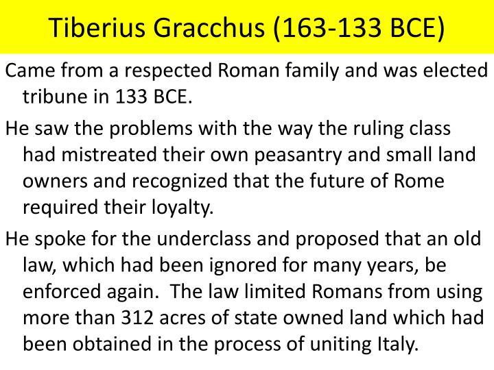 Tiberius Gracchus (163-133 BCE)