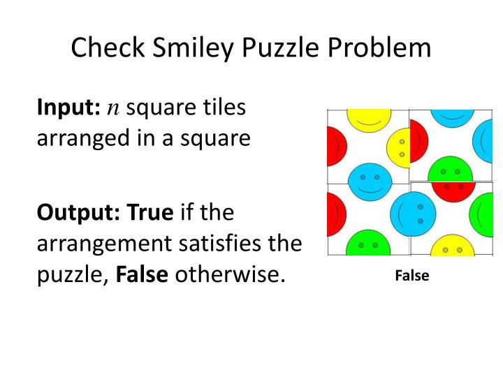 Check Smiley Puzzle Problem