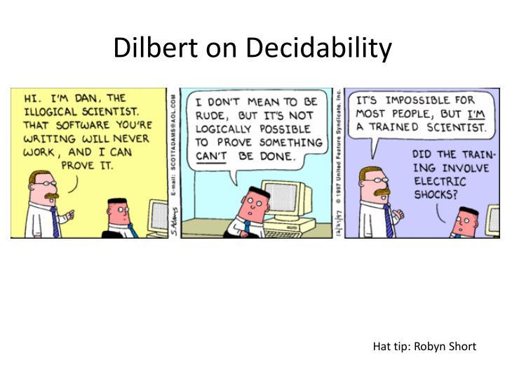 Dilbert on Decidability