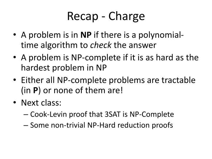 Recap - Charge