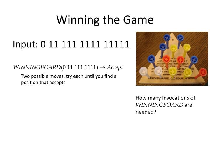 Winning the Game