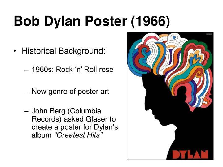 Bob Dylan Poster (1966)