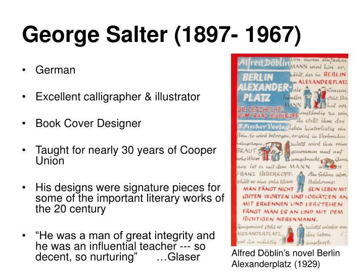 George Salter (1897-