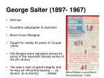 george salter 1897 1967