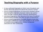 teaching biography with a purpose