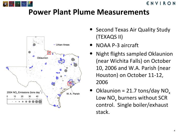 Power Plant Plume Measurements