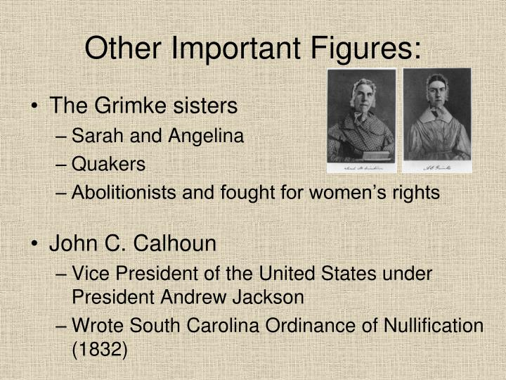 Other Important Figures: