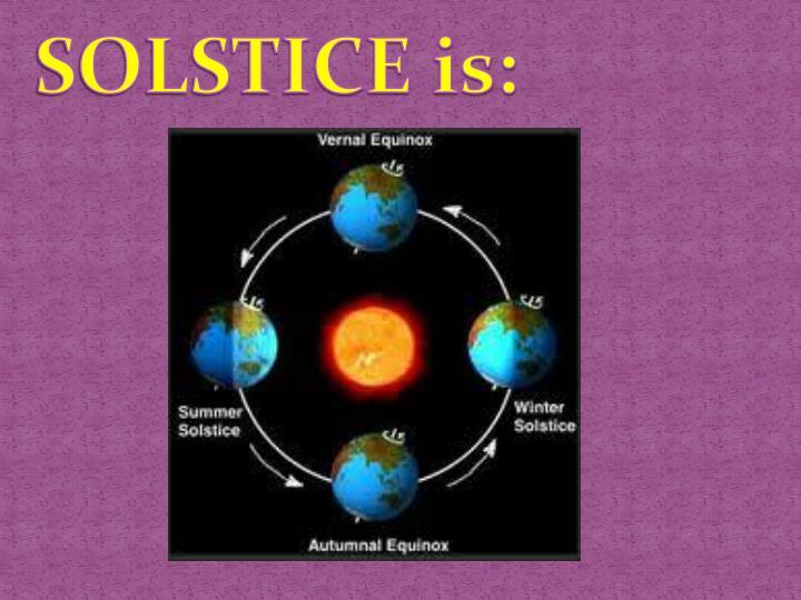 SOLSTICE is: