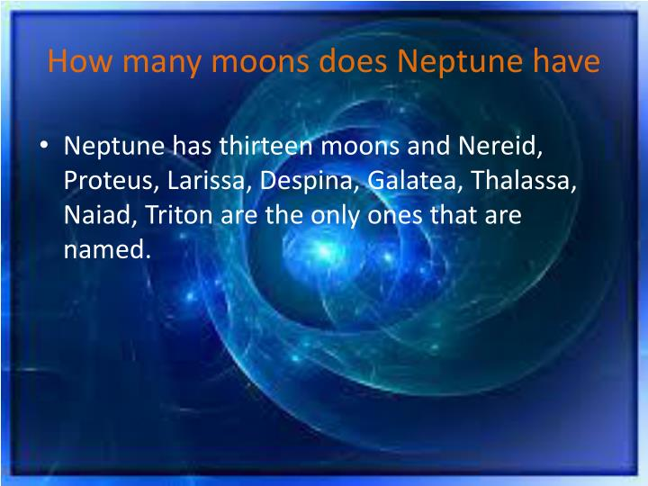 How many moons does Neptune have
