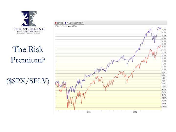The Risk Premium?