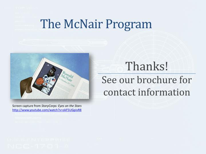 The McNair Program