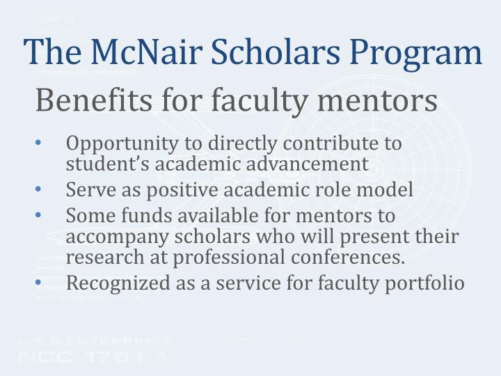 The McNair Scholars Program