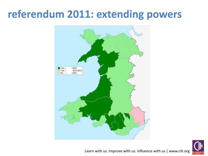 referendum 2011: extending