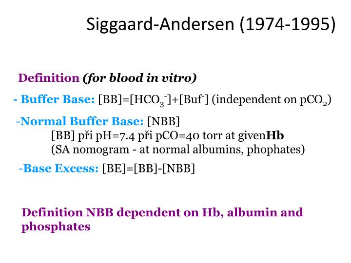 Siggaard-Andersen (1974-1995)