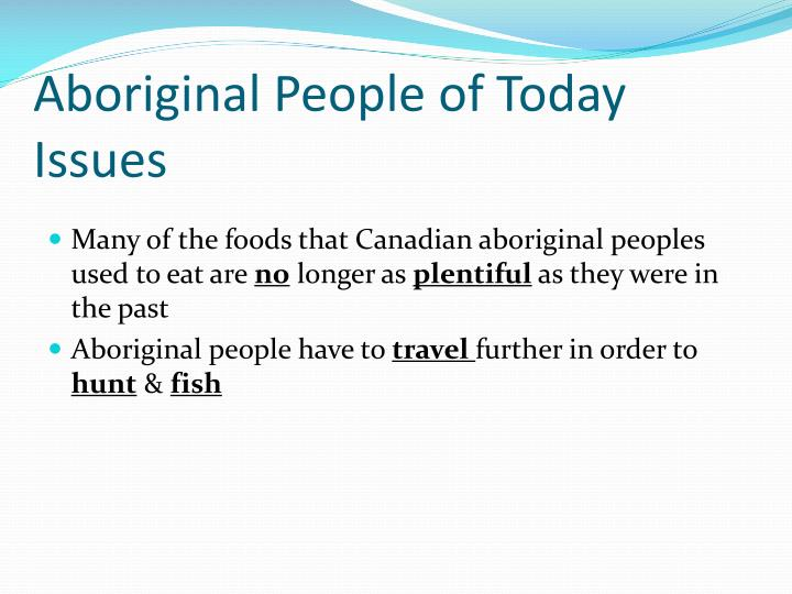Aboriginal People of Today Issues