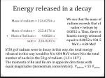 energy released in a decay2