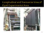 longitudinal and transverse view of e906 experimental area