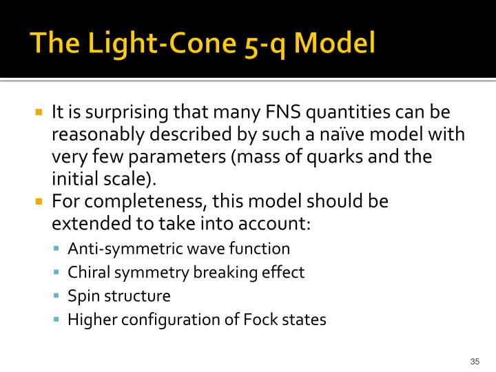 The Light-Cone 5-q Model
