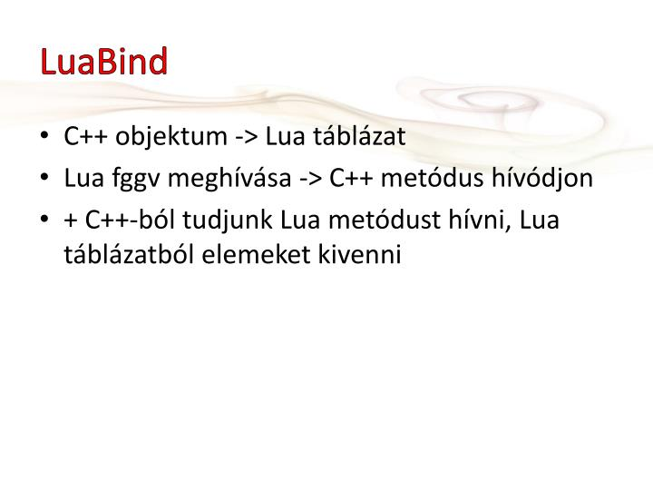 LuaBind