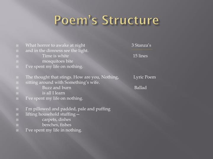 Poem s structure