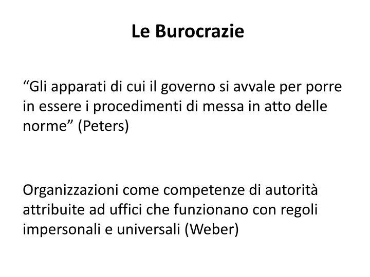 Le Burocrazie