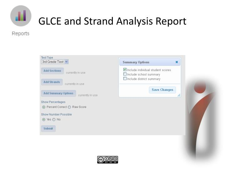 GLCE and Strand Analysis Report