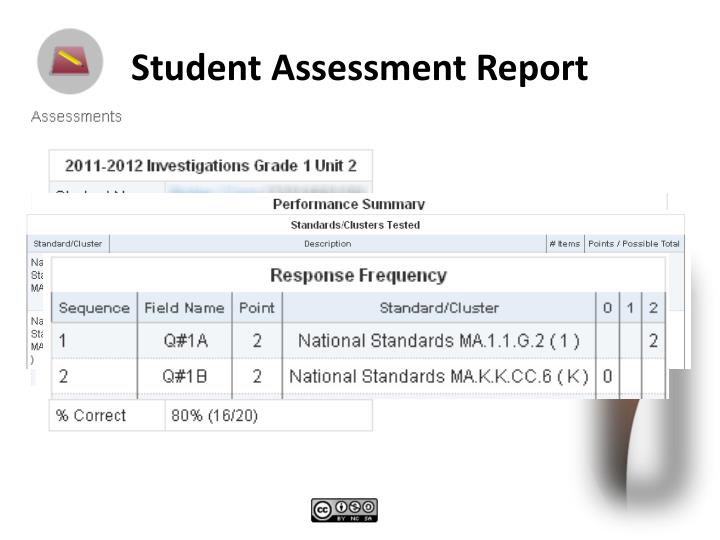 Student Assessment Report