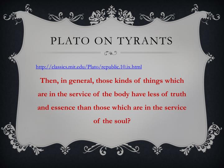 Plato on Tyrants