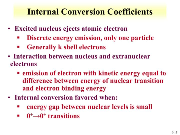 Internal Conversion Coefficients