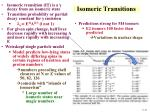 isomeric transitions