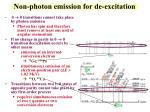 non photon emission for de excitation