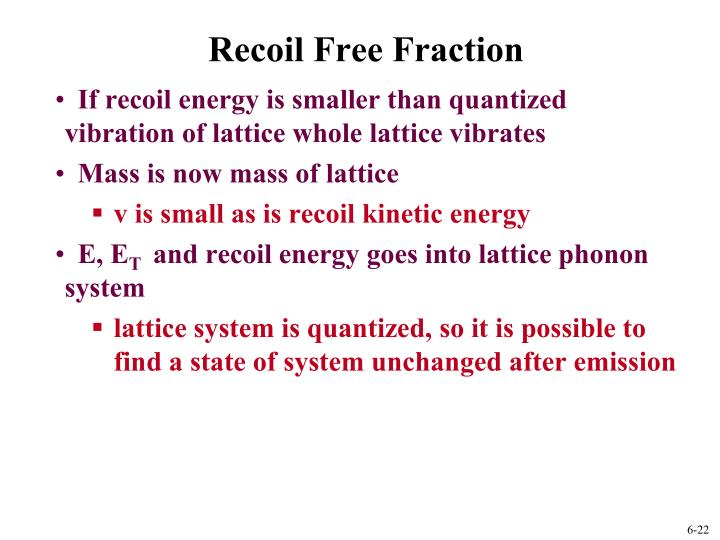 Recoil Free Fraction