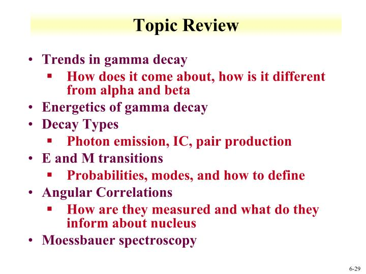 Topic Review