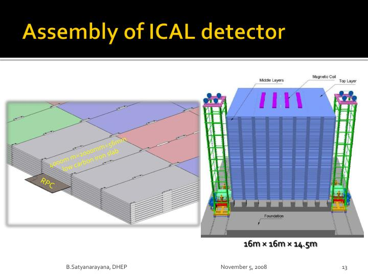 Assembly of ICAL detector