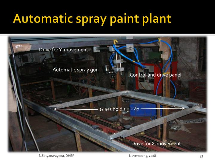 Automatic spray paint plant